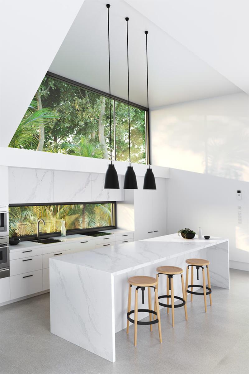 15 Cozinha Americana Branca Com Ilha Dikaza Interiores M Veis