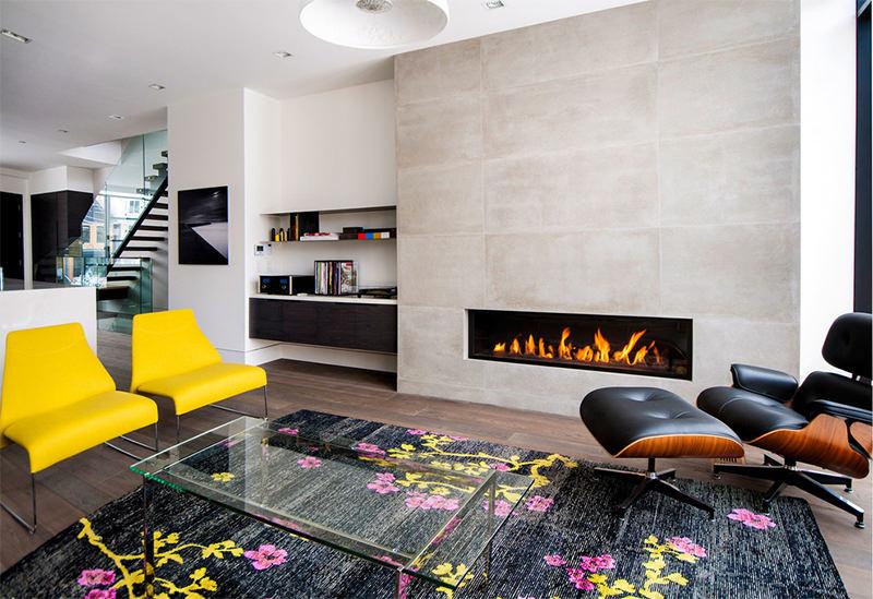 7 sala grande com lareira moderna dikaza interiores for Sala grande