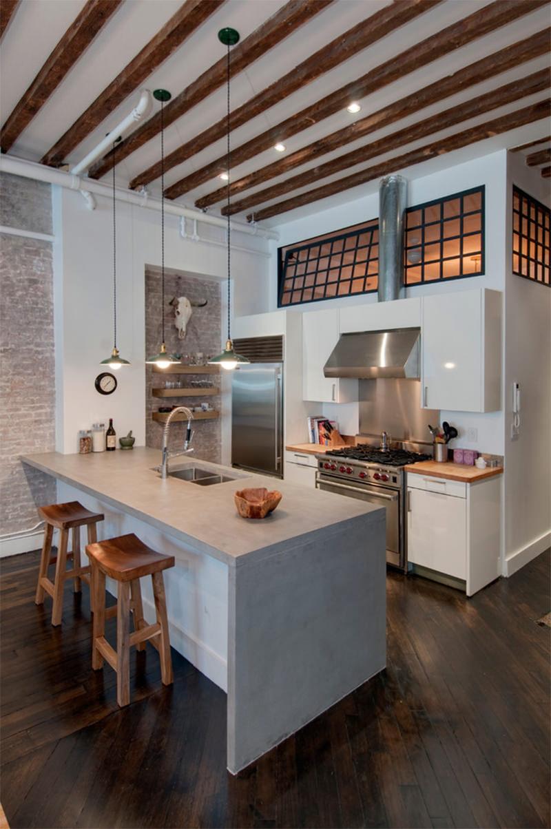 14 Ilha De Cozinha Com Pia De Concreto Dikaza Interiores M Veis